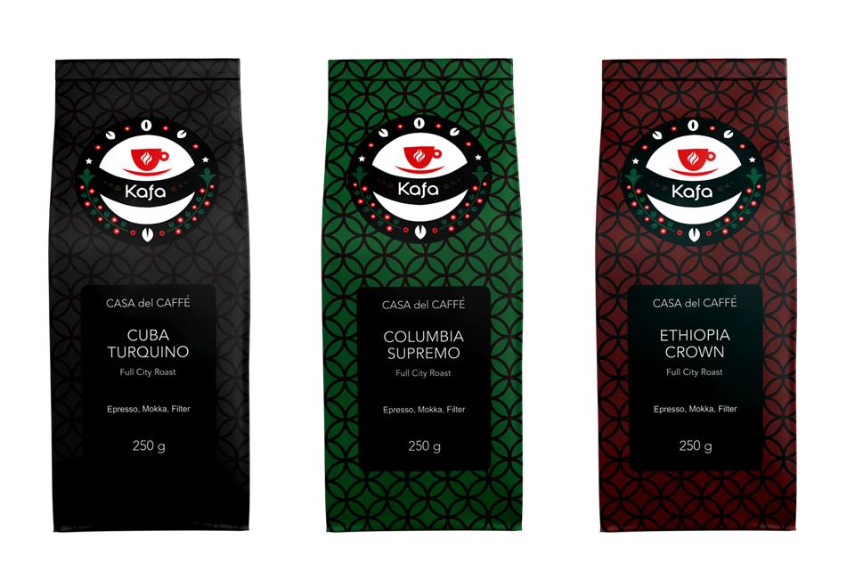 Dizajn obalu pre kávu