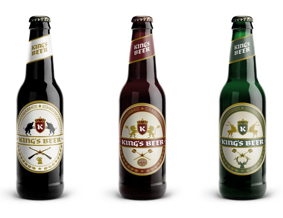 Dizajn etikety Kráľovské pivo