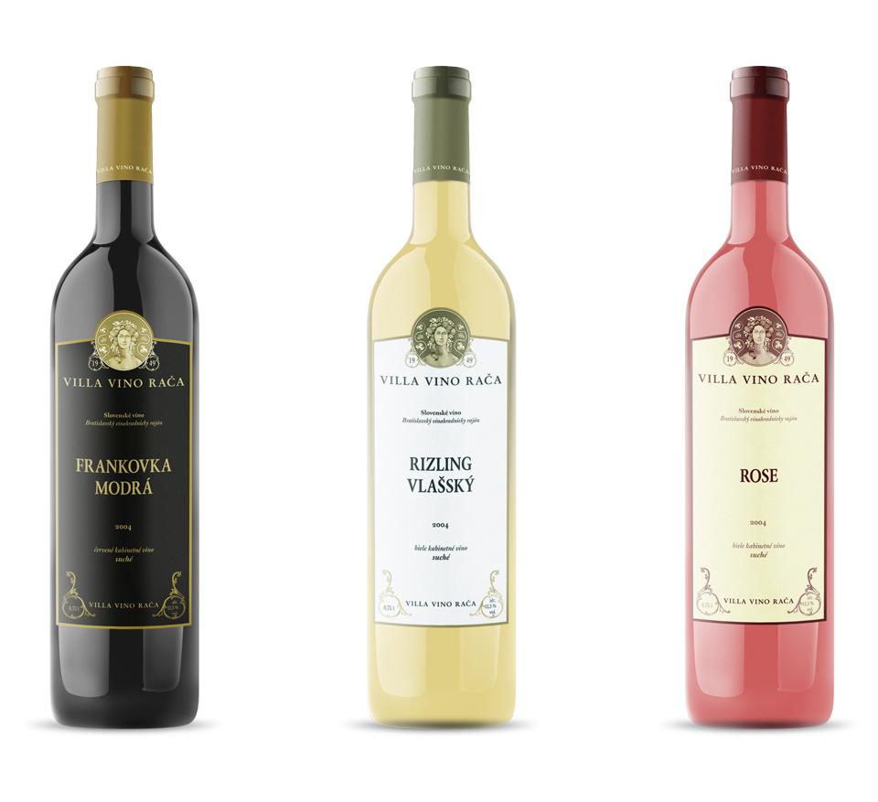 Obal vínové etikety Villa Vino Rača