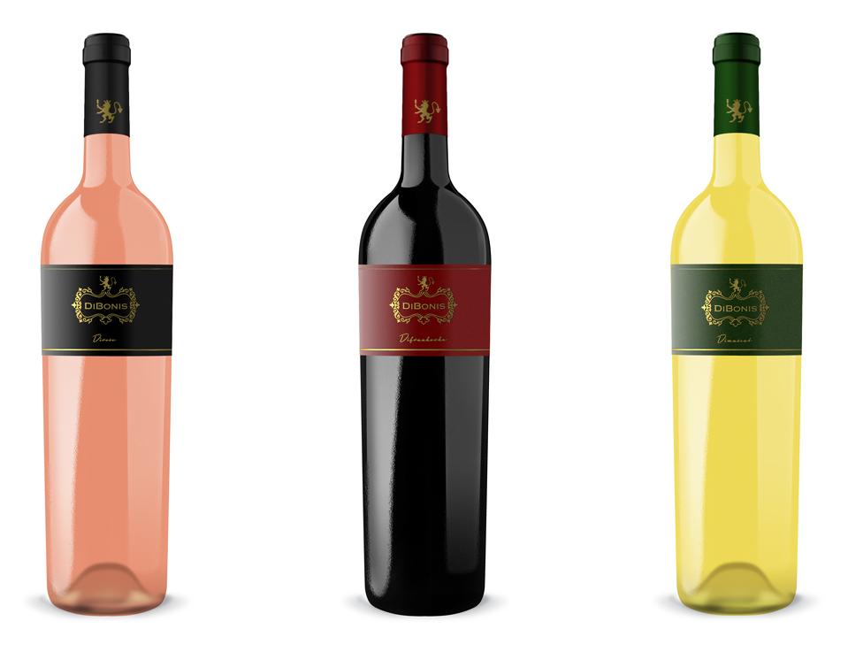 Dizajn etikety víno DiBonis